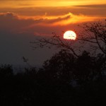 Sunset from the Ankor ruins