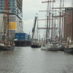 Tall ships in the Historic Maritime harbor