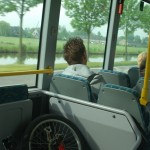 """On the bus, with """"Klapfiets"""", to Amsterdam"""