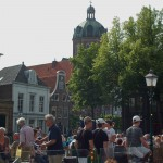 Market Place Hoorn wit R.C. Cyricus Church or Koepel kerk