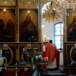 Mass and part of the famous Iconostasis