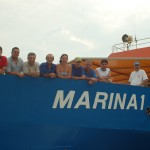 The crew of the research ship