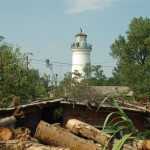 Lighthouse which is now about 5 miles from shore, from the constant erosion into the Black Sea