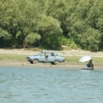 Along Danube, an ancient Dacia with the radio blasting