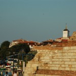 "Nessebar city wall and ""Our Lady of the Assumption"" Orthodox church"