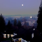 View from Lisa and Harry's home, with Full Moon