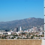 From Forest Lawn Cemetery looking at downtown Glendale