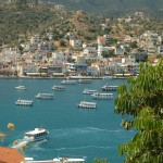 Looking at Galatas across from Poros