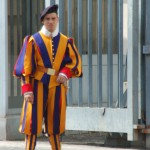 The Swiss Vatican guards