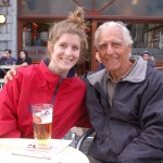With granddaughter Corrine in Louvain