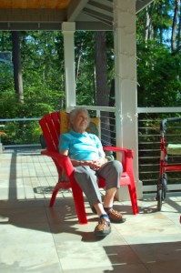 """Margaret (""""Cookie"""") the centenarian napping."""