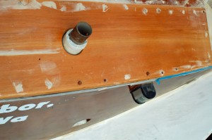 transom deck and enlarged scupper holes