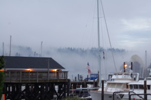 Morning fog at Stanich Dock